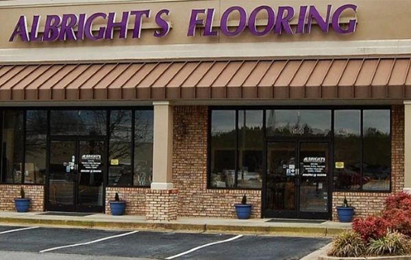 storefront image of Albright's Flooring showroom