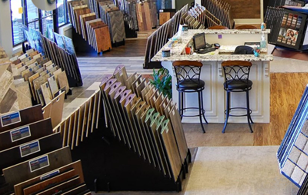 showroom of flooring dealer Albright's Flooring