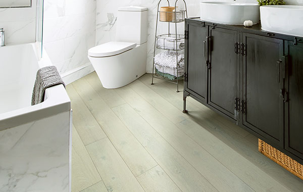 waterproof flooring in bathroom