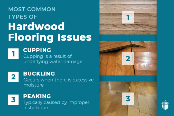 common types of hardwood flooring issues