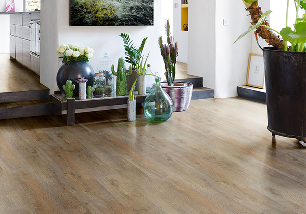 Texas Brown Hydrana Water-Resistant Laminate Flooring by Beauflor