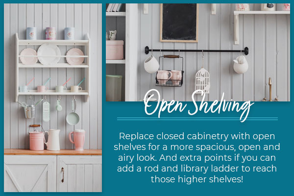 open shelving graphic