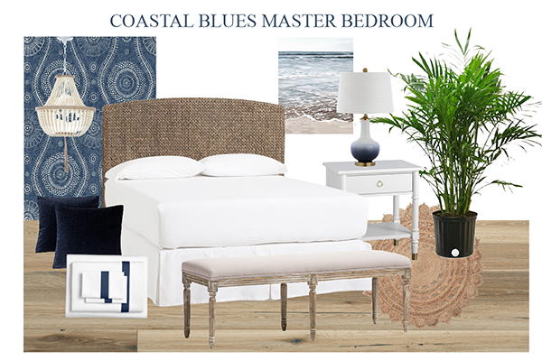 Coastal Master Bedroom horizontal
