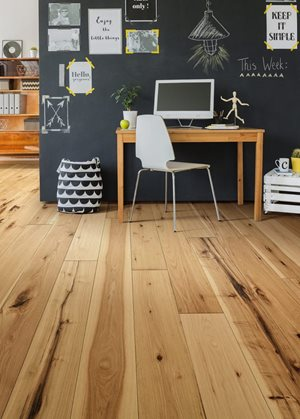 home office room featuring hardwood flooring