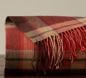 Ronan plaid blanket from Pottery Barn
